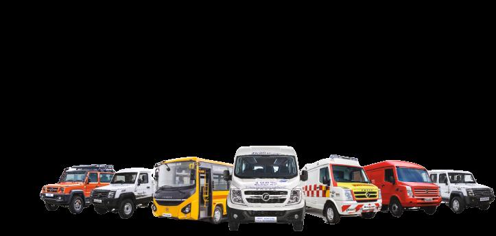 Hyderabad Force Vehicles  Bus  Traveller  Ambulance  Trax